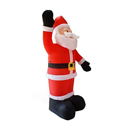 D weihnachtsmann aufblasbar Dekoration LED Leuchten riesiges Kinder (Rot) ()
