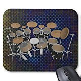 black-10-piece-drum-set-black-mousepad-drums-kit-mouse-pad