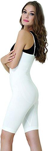 UnsichtBra Body intero modellante, scollato, a gamba lunga per donna Bianco