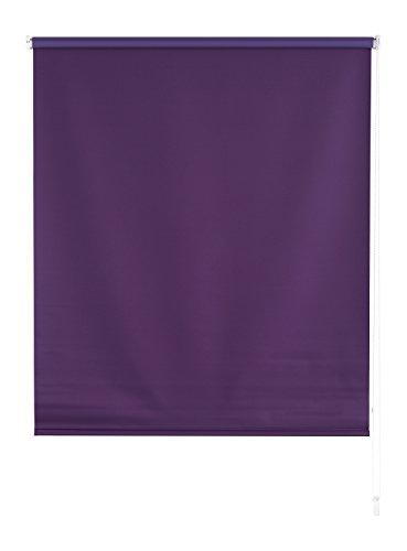 Blindecor Draco - Estor Enrollable Tipo Blackout, Liso, 100 x 175 cm, Color Violeta