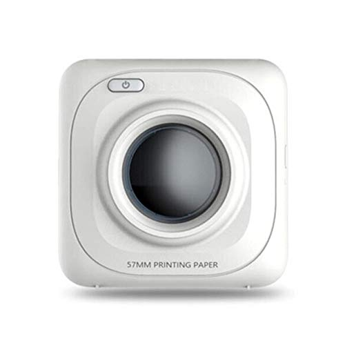 YANKAN Fotodrucker FüR Smartphone,Thermodrucker Mini Portable Bluetooth Drucker Telefon Foto Drucker Tasche Maschine (Schwarzweiß) - Foto-drucker Portable Bluetooth