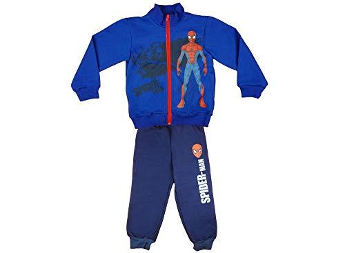 Spiderman Jungen Sport-Anzug Jogging-Anzug Baumwolle Grösse 104 110 116 122 128 134 140 Pulli Oberteil mit Freizeit-Hose Marvel für 3 4 5 6 7 8 9 10 Jahre, ideales Geschenk Größe 128 - Junge 5 Kleid Anzug