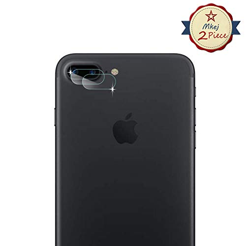 Mkej [2 Piezas Protector Lente Cámara para iPhone 7 Plus/ 8 Plus, [2.5D]...