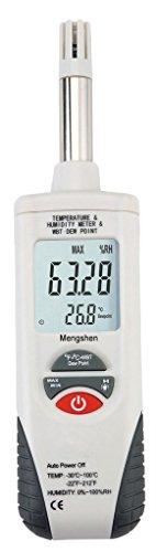Mengshen Medidor digital de humedad y temperatura. Termómetro e higrómetro multifunción, con bulbo...