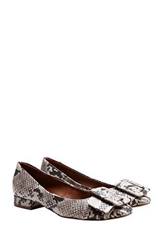 next Femme Chaussures À Bout Carré Et Boucle Animal