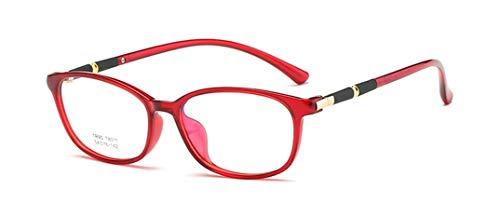 Flydo Mode Brille Vintage TR90 Super Leichtgewicht Fensterglas Brille Ohne Stärke Durchsichtig Sonnenbrille mit Retro Winddicht Sonne Brille Damen Herren