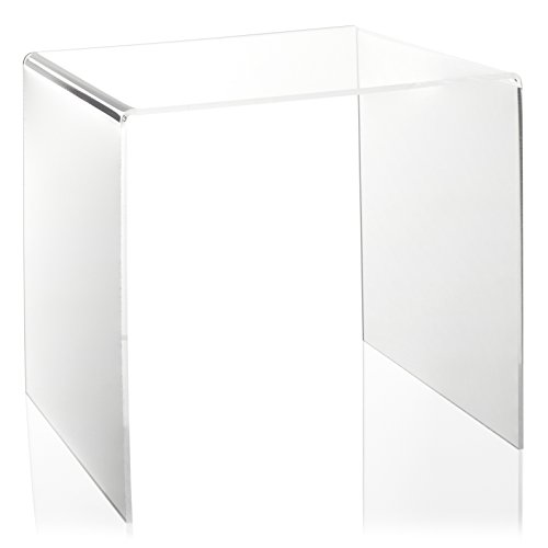 U-Ständer aus PLEXIGLAS® (25x25cm) als Display-Ständer für Vasen/Figuren in Vitrine/Schaufenster und Ausstellung -