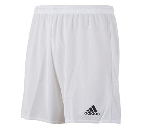 adidas Herren Shorts Parma 16 SHO, Weiß / Rot, 140, 4056561991482 (Running Shorts Weiß)