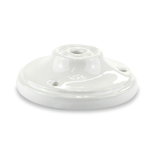 Lampen Baldachin Antik Porzellan / Keramik - Abdeckung für Hängelampen ohne Tunnel - indoor und outdoor