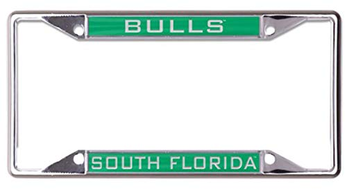 Wincraft University of South Florida USF Bulls Nummernschildrahmen, Metall, Eingelegt Usf Bulls