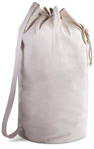 Canvas Duffle Bag-71,1x 35,6cm-Die Duffel Tasche ist aus extra robust Leinwand Material und Funktionen ein Kordelzug mit Ein Leder Verschluss und Schulterriemen für einfachen Transport., natur - Robuste Canvas Taschen