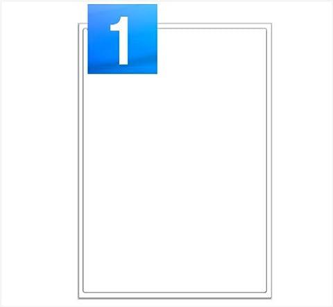20 Sheets - 1 Per Sheet (199.6 x 289.1mm) A4 Laser / Inkjet Self Adhesive Printer Address Labels - 20 Labels - Mr Stationary® Range