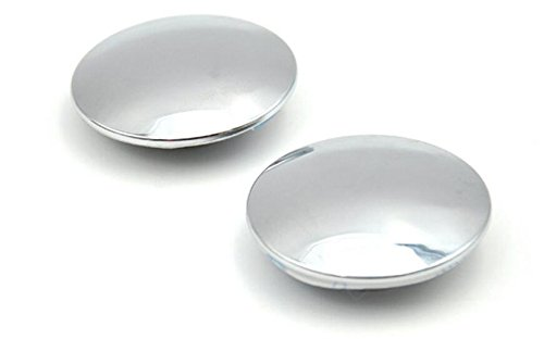 EarthSafe® Espejos de punto ciego, actualizado convexo de vidrio sin marco redondo de 360 ° rotativo del lado del espejo retrovisor Un Par (49mm + 120 Curvatura)