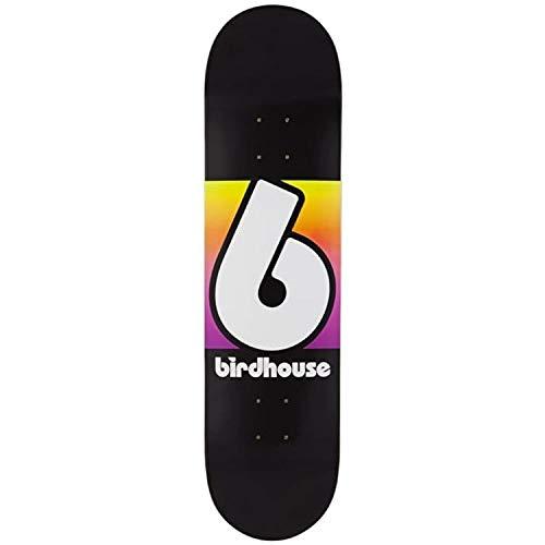Birdhouse Skateboard-Deck Block Logo - 8 Inch Schwarz-Multi (One Size , Schwarz)