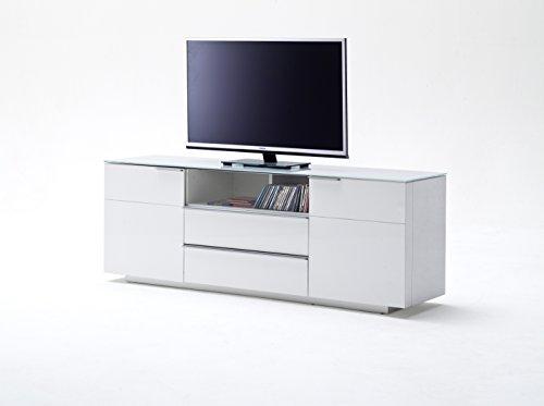 Robas Lund 48773W54 Canberra 2 Lowboard,Hochglanz weiß 165 x 41 x 58 cm - 2