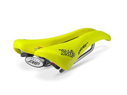 Selle SMP Glider, Sella Bicicletta Corsa Unisex - Adulto, Giallo Fluo Cromato, M