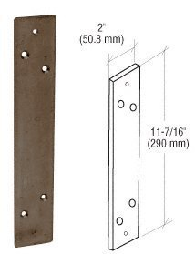 Crl Duranodic Bronze-finish (CRL Bronze Duranodic Finish Mounting Plate for the DL915 Pull Handle by C.R. Laurence)