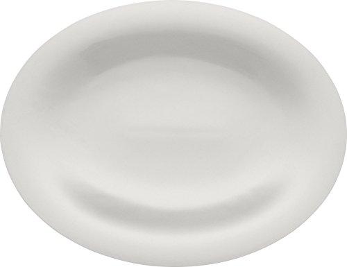 Alessi Ti05/22 36 Ku Plat de Service Ovale en Porcelaine Blanche