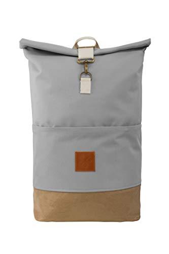 M13 RollTop - wasserdichter Roll Top Rucksack (20L), Kurierrucksack mit Innenfach, wasserabweisendes Material, verstellbare Gurte (Manufaktur13) (Canvas Wood II) -