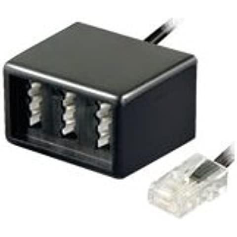 1x TAE.F-RJ11.M-01 RJ11 plug TAE F socket TAE N socket x2 Transition splitter