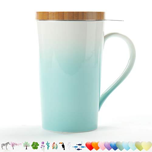 TEANAGOO M066 Teetasse mit Filter und Deckel,