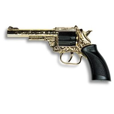 EDISON 8026069 - Revolver Dakota Gold, 8-Ringschuss (Dakota Kostüme)