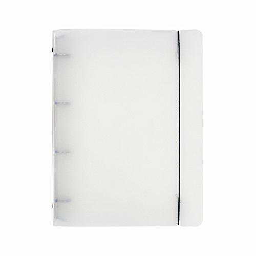 Kunststoff Transparent Datei Ordner Runde Ring Binder Notebook, A6 mit 6 Löcher A4-4 Holes