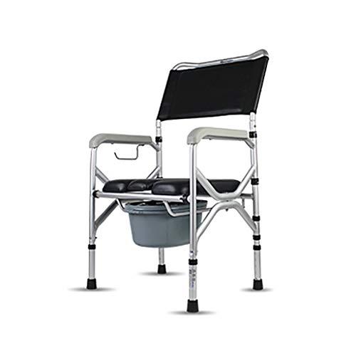 XN Garb Bar Commode, Folding 3 In 1 Toilettenstuhl - Tragbares, HöHenverstellbar, Mit Eimer Spritzschutz Und Sicherheitsrahmen Armen -Adult Badezimmer Sitz