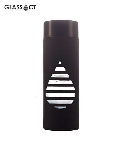 Glass Act Reusable Glass Water Bottle 500 ML, Jet Black  available at amazon for Rs.499