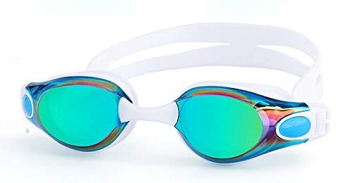 Moocevill - Schwimmbrille Myopie Männer und Frauen Anti-Fog professionelle wasserdichte Silikon-Arena Pool Schwimmen Brillen Erwachsenenschwimmbrille [Weiß Normal 0]
