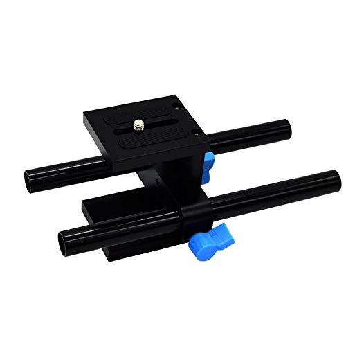 Koojawind15mm Schiene Rod Support System Baseplate Mount Für DSLR Follow Focus Matte Box, Fotokamera Sonnenschutz Hood Rail Schnelle Montage Pan Support Holder 15 Mm Rod Support