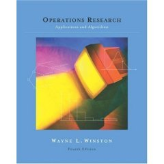 Operations Research: Applications and Algorithms (with CD-ROM and InfoTrac)