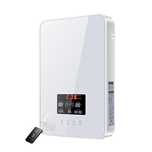 Roscloud@ 6 Kw 8kw Instant Warmwasserbereiter Duschpaneel System Kit Tankless Warmwasserbereiter für Bad Küche 220 V Geeignet für Familie, Handwäsche, Friseur (Farbe : Weiß, größe : 6KW)