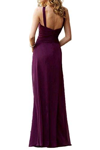 La_mia Braut Traube Chiffon Abendkleider Brautjungfernkleider Partykleider Etuikleider Rock Chiffon Royal Blau