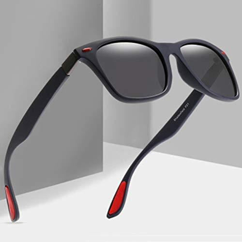 dongguanshuhui Unvorstellbar Classic Polarisierte Sonnenbrille Unisex Driving Square Frame Sun Glasses Goggle UV400 Gafas De Sol(None Sand Blue) (Square Frame Brille Kostüm)