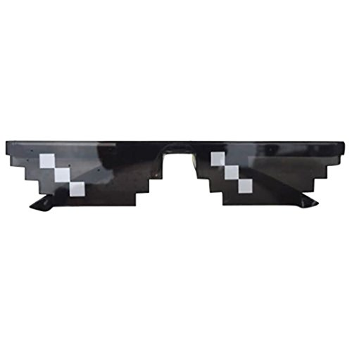 Sunglasses,Ba Zha  New Thug Life Glasses 8 Bit Pixel Deal With It Sunglasses Unisex Retro Sports Outdoors Sunglasses Women's Fashion Goggles Cycling Sport Sunglasses Bicycle Fashion Accessories