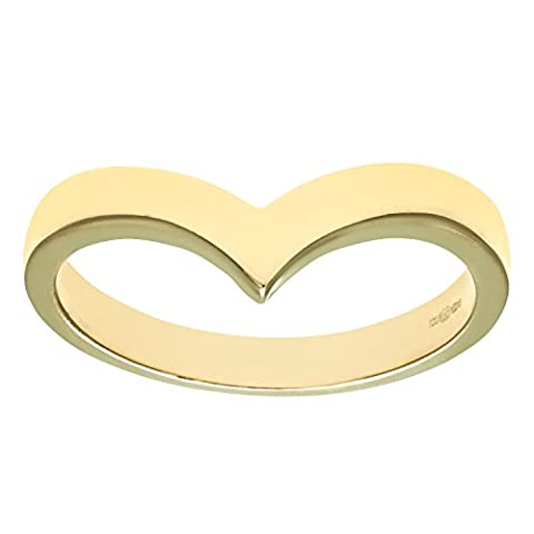 Revoni Bague Wish Bone pour femme en or jaune 9 carats