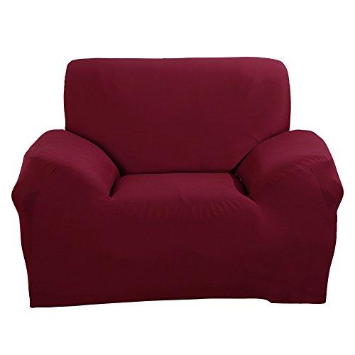 Stretch Arm Stuhl Abdeckung - Sofa Covers Slipcover Sofa - 1-St¨¹ck 1 2 3 4 Seater M?bel Protector Polyester Spandex Stoff Sessel Schonbezug mit einem Kissenbezug f¨¹r Kinder und Haustiere Rot (Sicher Fit Sessel Schonbezug)