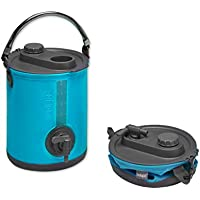 Colapz 2-in-1 Collapsible Water Container - Camping Water Carrier - Campervan bucket - Water Dispenser with Tap - Blue