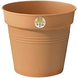 Elho Green Basics Pot De Culture 15 - Growpot - Terre Cuite Doux - Intérieur & Extérieur - Ø 15 x H 13.8 cm