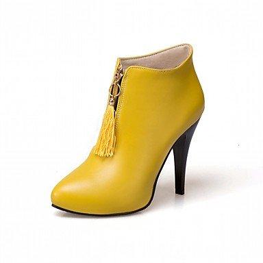Rtry Femmes Chaussures Pu Similicuir Automne Hiver Confort Nouveauté Mode Bottes Talon Toe Bottes / Bottillons Inflorescence Staminifera (s) Pour Us6.5-7 / Eu37 / Uk4.5-5 / Cn37