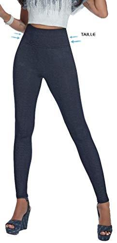 Firstclass Trendstore Shape-Leggings Gr. S-XXL * Jeans-Optik formend modellierend schlankmachend Leggins Damenhose (Blair M)