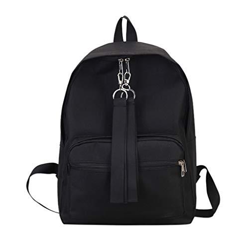 Rucksack Damen Elegant Mädchen Student Schultasche handtaschen Schule Im Freien Reise Backpack Anti Diebstahl Taschen SEXYYEDE,Kurier Reißverschluss Leinwand Umhängetasche,Black -