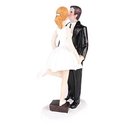 Compre productos, FLAMEER le brinda más protección para que pueda disfrutar de una vida mejor. Descripción: - Romántico beso novia novio pastel topper, durable y vivo. - Con la figurita de un par de pie en el pastel, hacien...