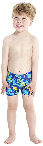 Speedo-nios-Sea-Squad-All-Over-Aqua-pantalones-cortos-color-New-SurfJapan-BlueSalsoEmpire-Yellow-tamao-3-aos
