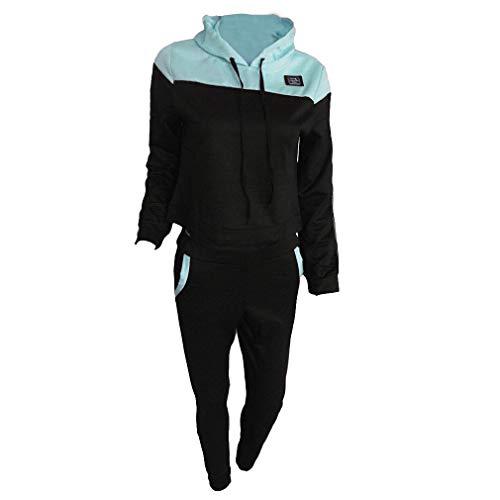 Mxssi 2 STÜCK Mit Kapuze Lässige Trainingsanzug Anzüge Für Frauen Set Hoodies Sweatshirt + Sweatpants 2 Stücke Sets Frauen Anzug Sweatsuit Hell Grün XL