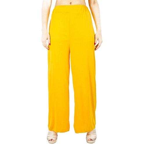 C&S Shopping Gallery Women's Yellow Solid Plazo