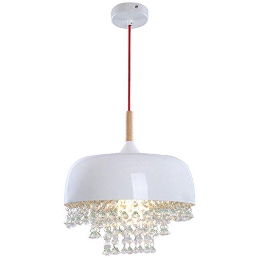 GRFH Creative Esszimmer Crystal Pendelleuchten Bar-Living Lampe Weiße LED Lampe Schatten Schöne hängen im Raum Kronleuchter E27 110V-220V