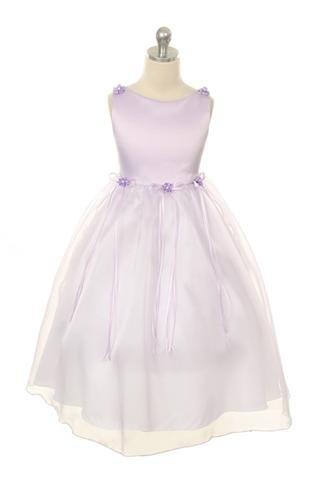 Needybee Purple Classic Satin and Organza Dress