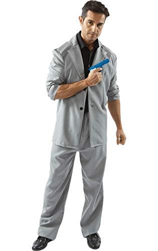 Miami Detective Costume (Black and Grey) - Extra Large